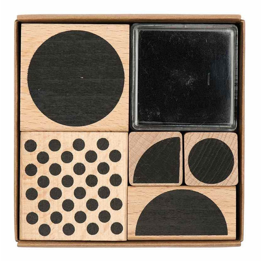 Rico Stamp Set Geometric Round8x8 cm