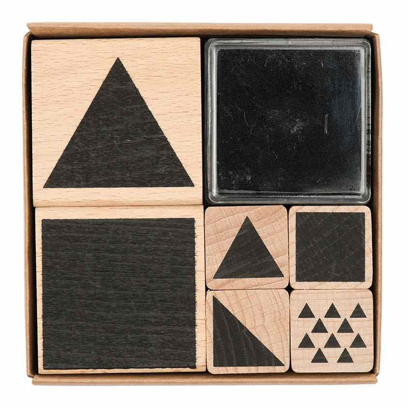 Rico Stamp Set Geometric Square8x8 cm