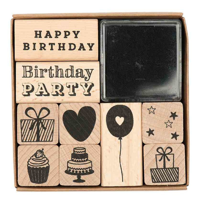 Rico Stamp Set Birthday8x8 cm