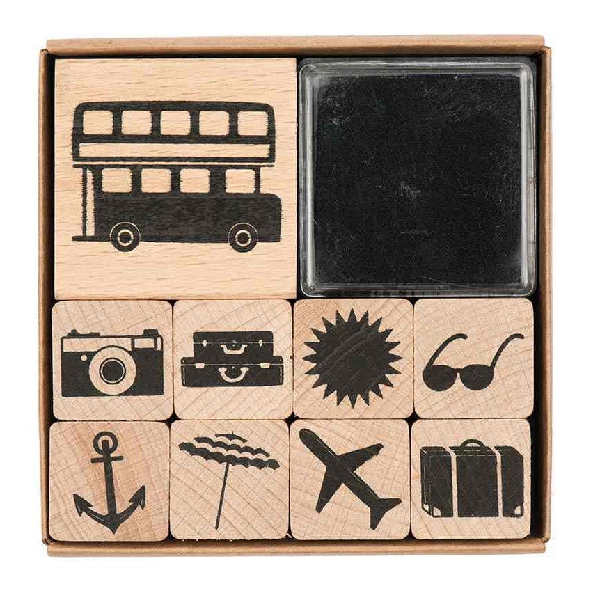 Rico Stamp Set Vacation8x8 cm