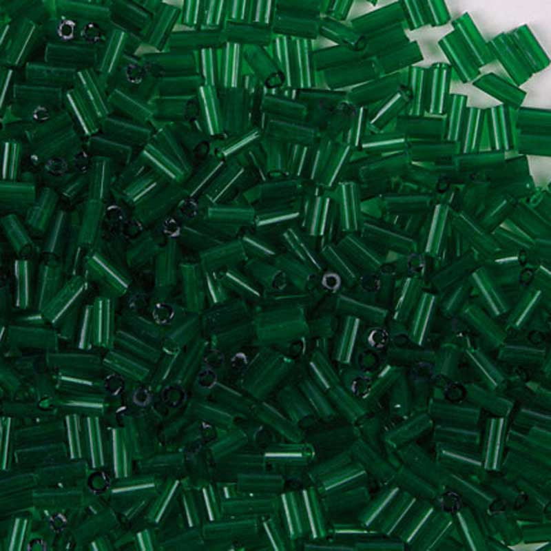 Rico Rod-Shaped Bead Transparentgreen 6.75mm