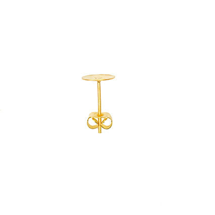 Rico Earring Post Gold 13/8mm Asst 2