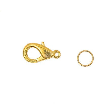 Rico Spring Catch With 2 Ring Gold 16mm Asst 2