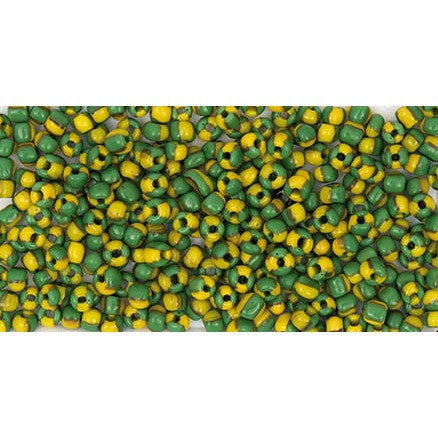 Rico Rocaille Green Yellow4mm Ca. 17g