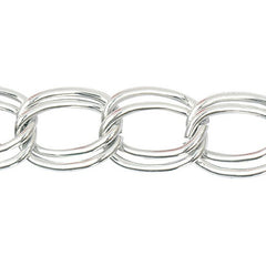 Rico Linked Chain Silver 18mm/100cm