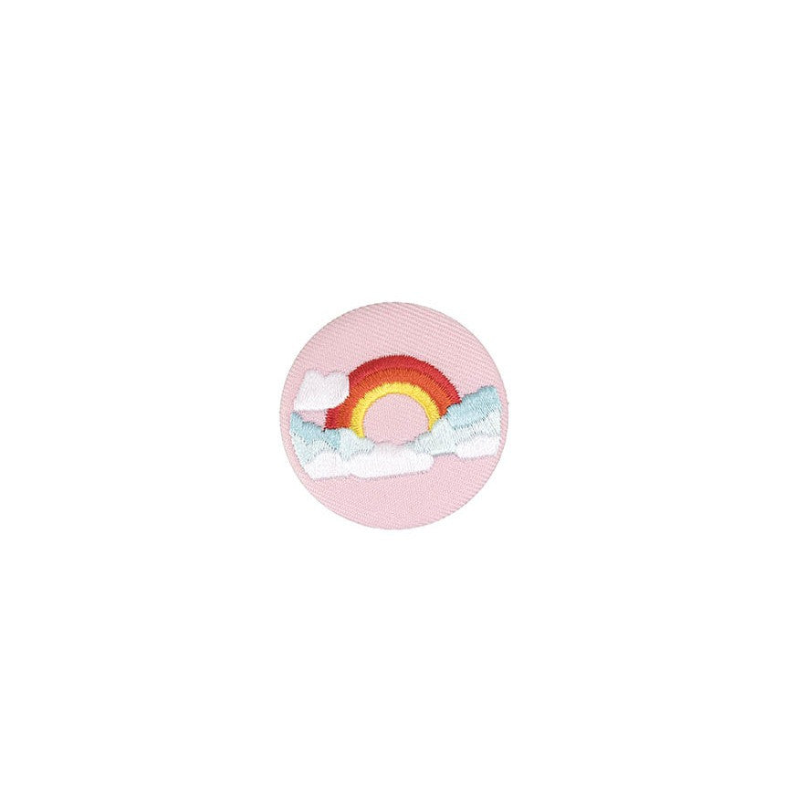 Rico Button Rainbow Pink Multicol40mm