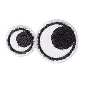 Rico Patch Eyes For Ironing On38x36mm