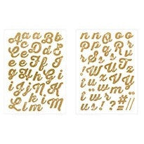 Rico Iron-On Glit Letters A-Z Gold