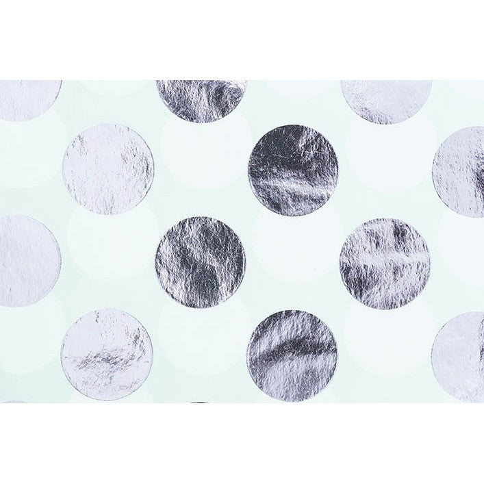 Rico Tissue Paper Mint Dots Silver