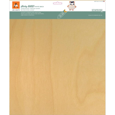 Arc Crafts/Etc Paper - Wht Birch -Barc Wood Sheet Ab