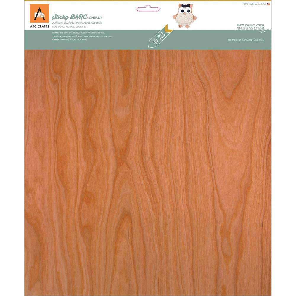 Arc Crafts/Etc Paper - Cherry -Barc Wood Sheet Ab