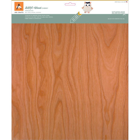 Arc Crafts/Etc Paper - Cherry -Barc Wood Sheet Pb