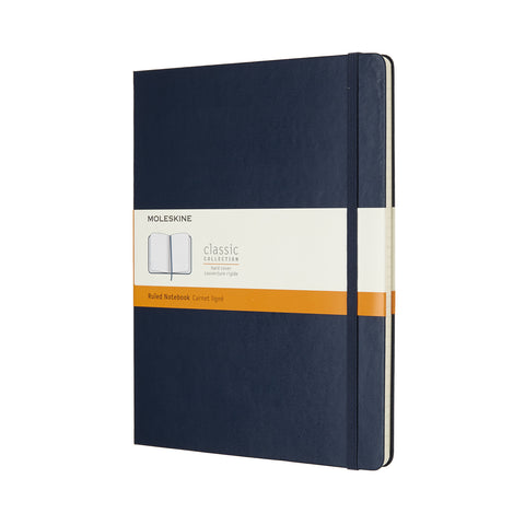 Moleskine Notebook XL Ruled Sapphire Blue Hard