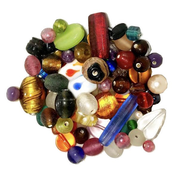 Mixed Glass Beads - 100g