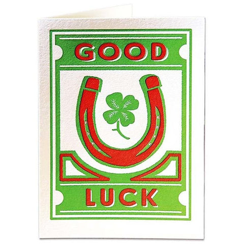 Good Luck Hores Shoe Card