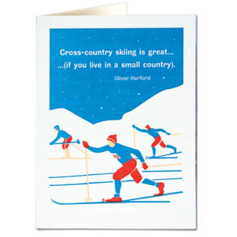 Cross Country Skiing Card