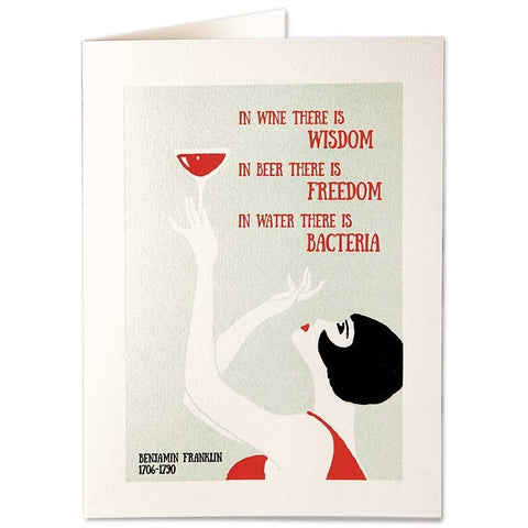 Wine And Wisdon Card