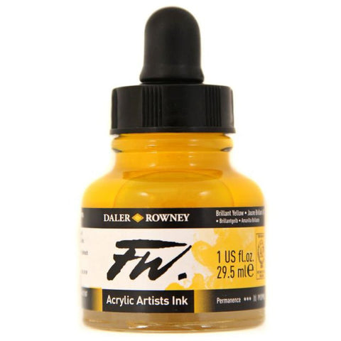 Daler Rowney Fw Ink 29.5ml Brill Yellow
