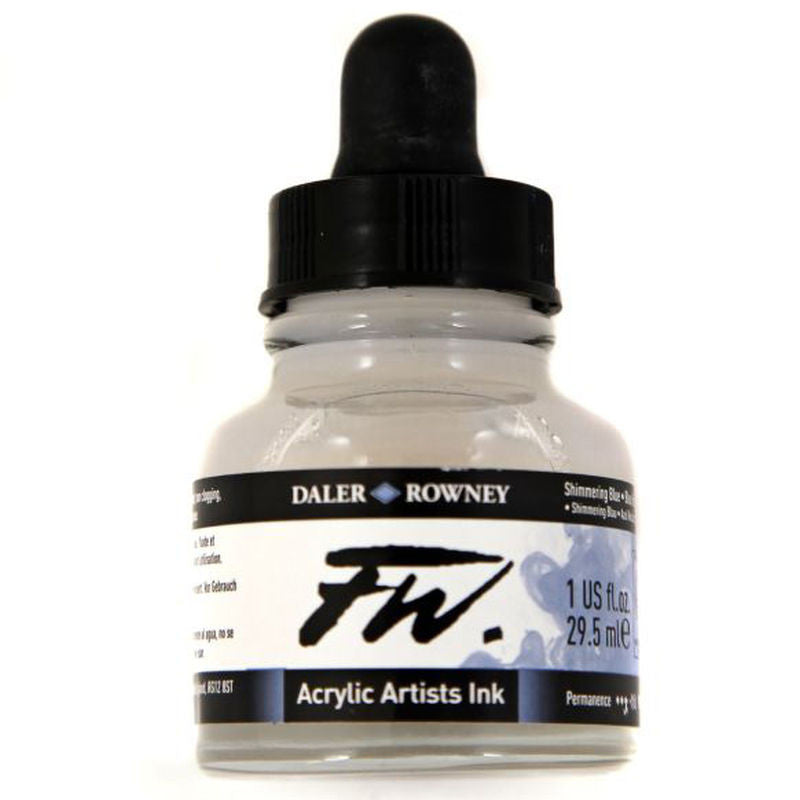 Daler Rowney Fw Ink 29.5ml Shimmering Blue