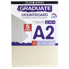 Daler Rowney A2 Graduate Mountboard 5 Pack