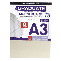 Daler Rowney A3 Graduate Mountboard 8 Pack