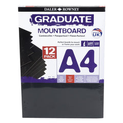 Daler Rowney A4 Graduate Mountboard 12 Pack