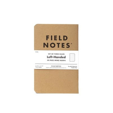 FIELD NOTES Pack of 3 Notebooks - Left Handed Ruled
