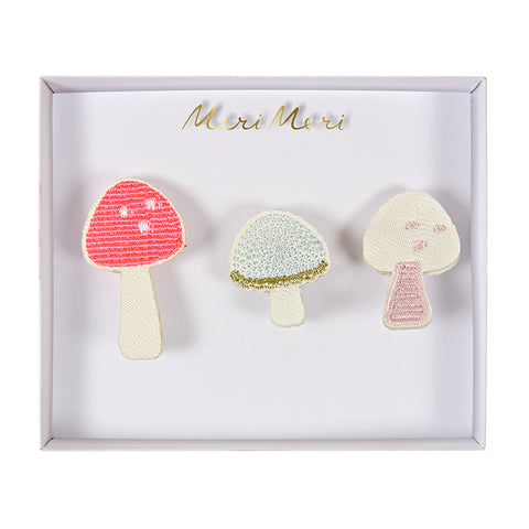 Meri Meri Embroidered Brooches/Mushrooms