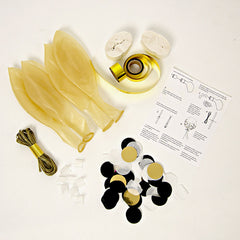 Meri Meri Confetti Balloon Kit & Gold Cord