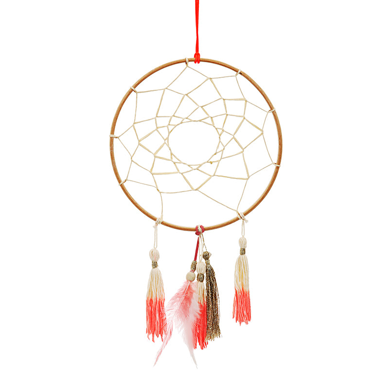 Meri Meri Wooden Coral Dream Catcher/Feather/Tassel