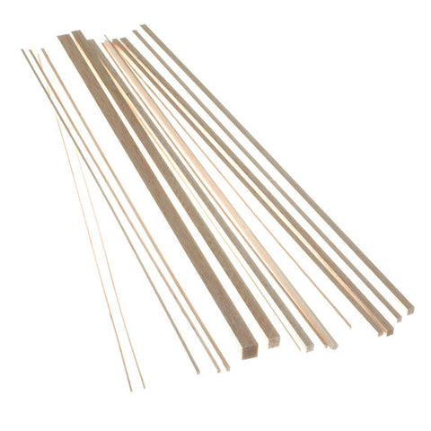 Balsa Wood - Square Strips 445mm long
