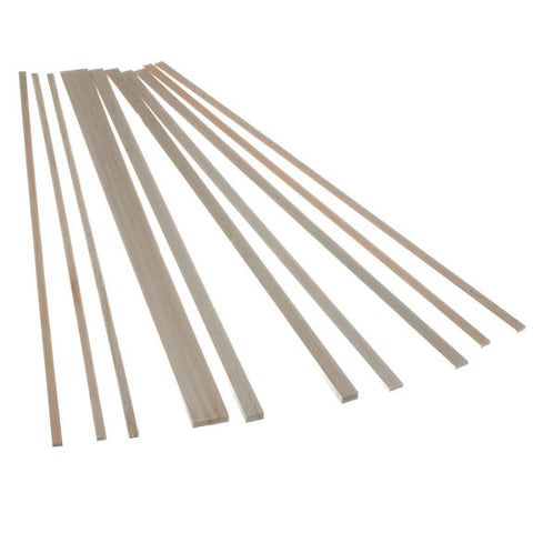 Balsa Wood - Rectangle Strips 445mm long