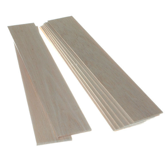 Balsa Wood - Thin Sheets 75mm wide x 445mm long