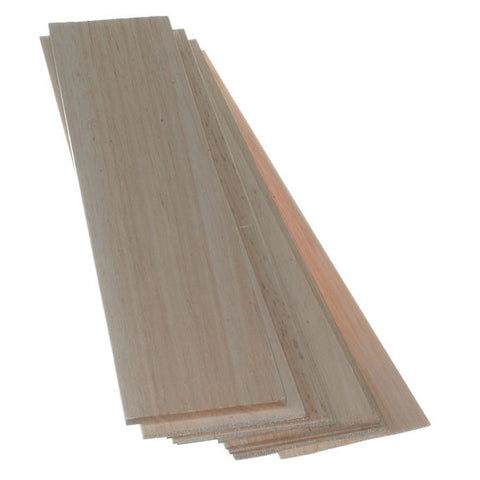 Balsa Wood - Thin Sheets 100mm wide x 445mm long