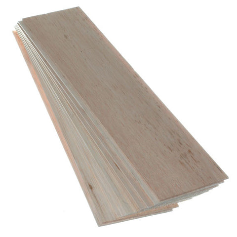 Balsawood 2.4 x 100 x 450 mm Bulk Pack 10