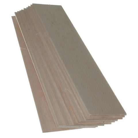Balsawood 3.2 x 75 x 450 mm Bulk Pack 10