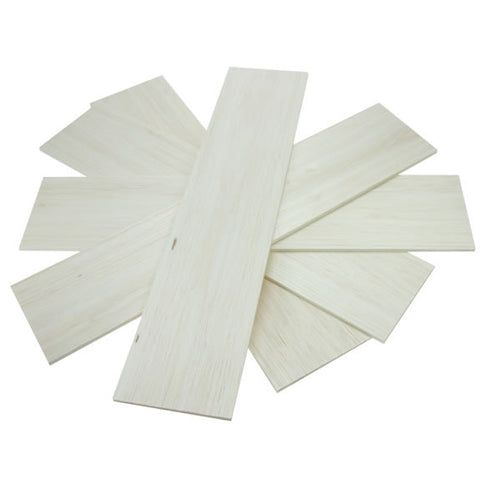 Balsawood 4.8 x 100 x 450 mm Bulk Pack 5