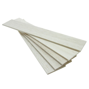 Balsawood 6.4 x 75 x 450 mm Bulk Pack 5