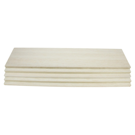 Balsawood 9.6 x 100 x 450 mm Bulk Pack 5