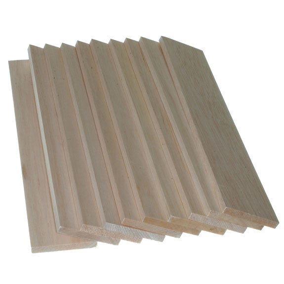 Balsawood 9.6 x 75 x 450 mm Bulk Pack 5