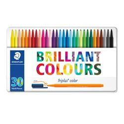 Staedtler Triplus Colour Fibre Tip Tin Of 30