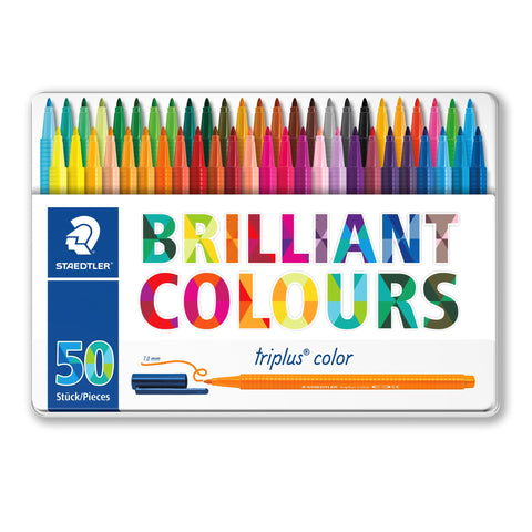 Staedtler Triplus Colour Fibre Tip Tin Of 50
