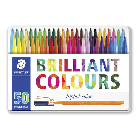 Staedtler Triplus Fineliners Tin Of 50