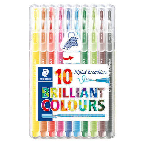 Staedtler Triplus Broadliners Pack of 10