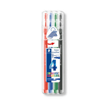 Staedtler Triplus Broadliners Pack of 4