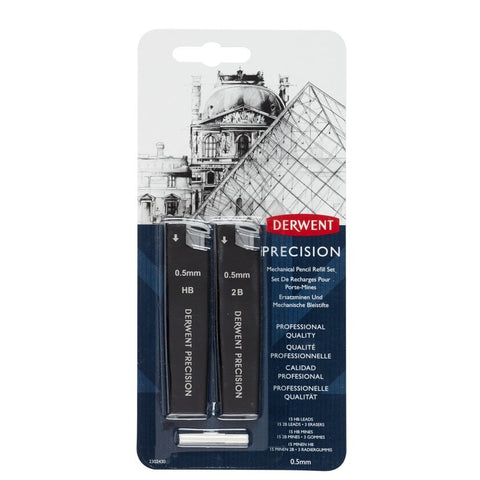 Derwent Precision Mechanical Pencil 0.5 Refill Set
