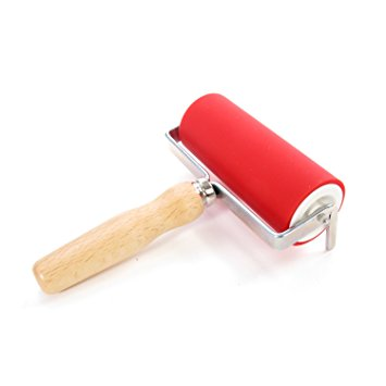 Abig - Ink Roller 120mm with Wooden Handle