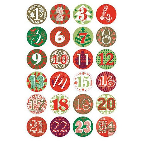 Rico - Advent Calendar Buttons /Green/Red