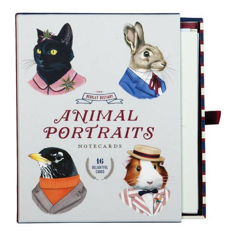 Berkley Bestiary Animal Portrait Notecard Assortment