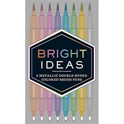Bright Ideas Metallic Double-ended Colored Brush Pens: 8 Colored Pens